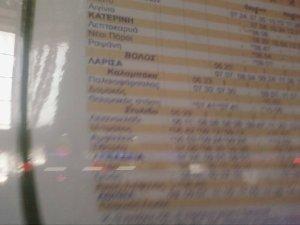 ¿Cómo se coge un tren griego?