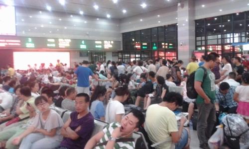 Una estación de tren de Pekín. El infierno era esto