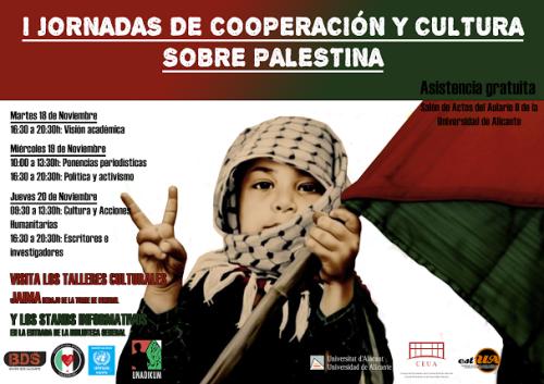 Jornadas sobre Palestina en Alicante